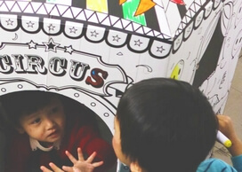 Special Themed Playhouses for kids color in and play