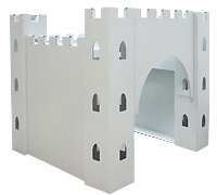 Cardboard Plain White Castle build and color activity play house toy
