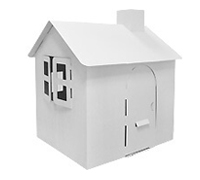 Cardboard Medium Own House build and color activity play house toy