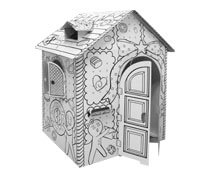 Cardboard Gingerbread House build and color activity play house toy
