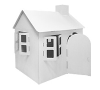 Cardboard Large Own House build and color activity play house toy