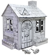 Cardboard Large Pasture House build and color activity play house toy